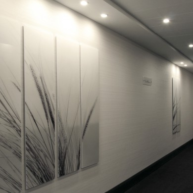 Artworks printed on perspex permanently installed at the Hilton Hotel, Malta