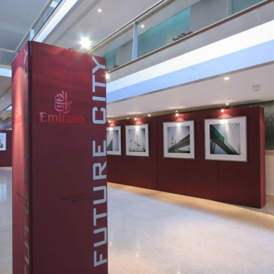 Temporary exhibition installation at the Intercontinental Hotel, Malta. Exhibition designed, manufactured and installed by The Picture House.