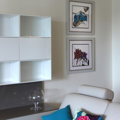 Artworks supplied framed and installed in a luxury apartment by The Picture House