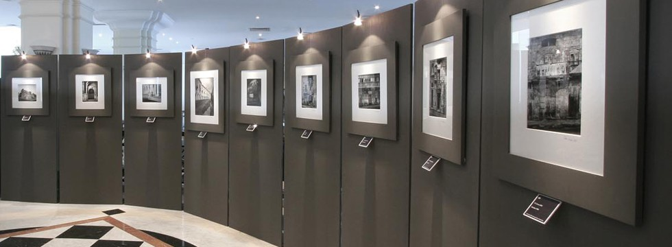 Temporary exhibition installation at the Hilton Hotel, Malta. Exhibition designed, manufactured and installed by The Picture House.